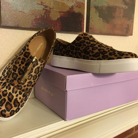 550bd6470c6d Madden Girl Shoes | Kudos Sneakers Nib Leopard | Poshmark